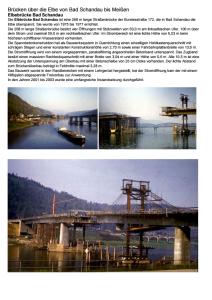 Brücke über die Elbe von Bad Schandau bis Meißen